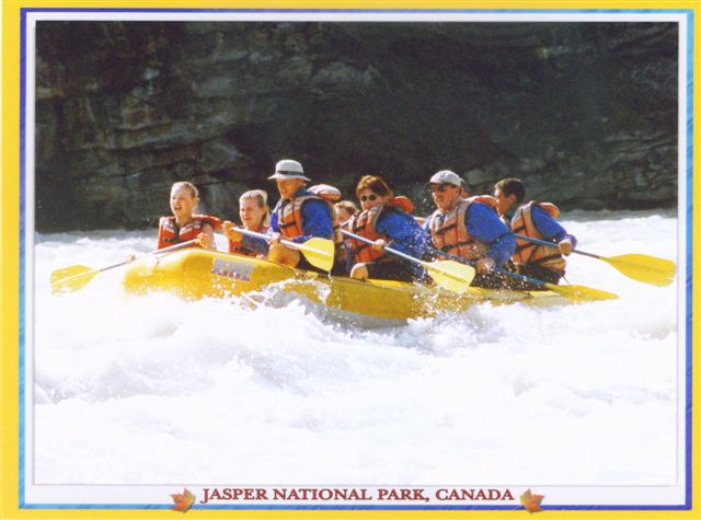Raft trip on the Athabasca River