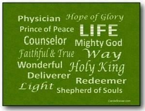 Names of Jesus green pic