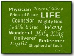Names of Jesus green pic