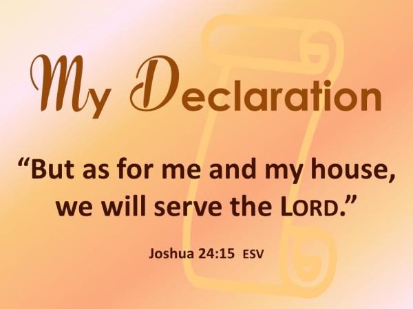 My Declaration